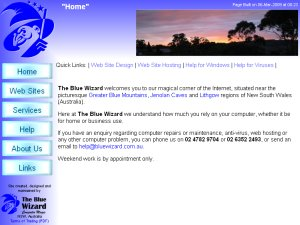 The Blue Wizard Web Site
